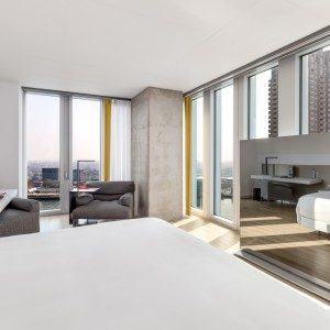 panoramic view nhow Rotterdam Premium room