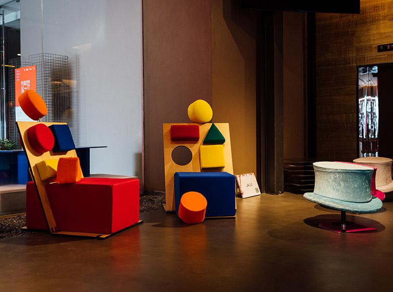 Seduta JAC Peek-a-Boo Exhibition nhow Milano