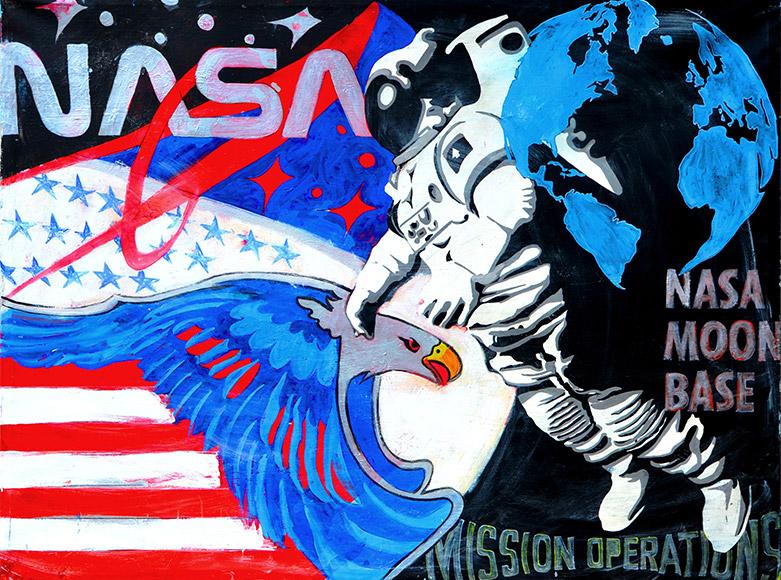 Nasa Moon Base Peek-a-Boo Exhibition nhow Milano